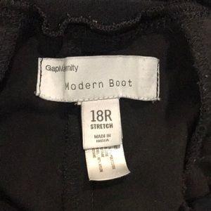 Gap maternity modern boot black dress pants